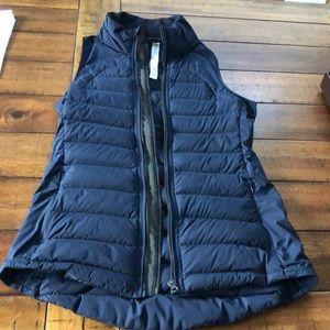 Lululemon puffy vest, navy blue, size 4.